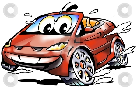 Cabriolet Sports Car racing in full speed stock photo, Cabriolet Sports Car racing in full speed by DrawShop - Poul Carlsen