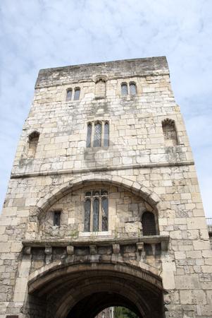 Monkgate Bar York stock photo, Fourteenth Century Gateway in York England by d40xboy