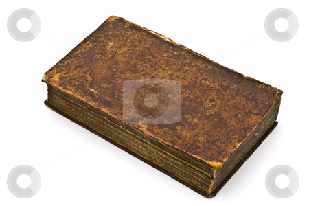 Old book stock photo, Old book isolated on white background   by Ingvar Bjork