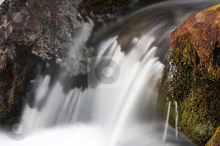 Waterfall stock photo, Beautiful waterfall in mountain by Sasas Design