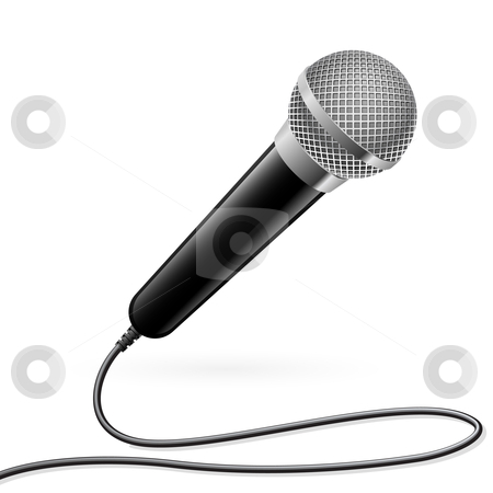 Microphone for Karaoke stock photo, Microphone for Karaoke. Illustration on white background by dvarg