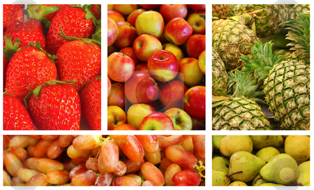 Fruits and Vegetables stock photo, Fruits and Vegetables Variety and Choice Collage by Kheng Ho Toh