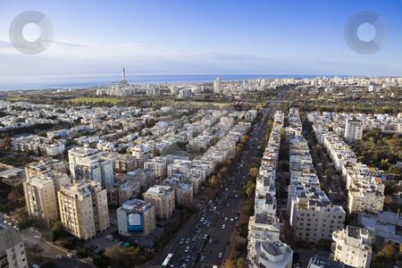 Cityscape stock photo, Tel Aviv  skyline / Aerial view of  Tel Aviv by Dmitry Pistrov
