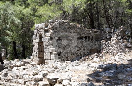 Phaselis stock photo, Ruins in Phaselis, near Antalya, Turkey by Mile Atanasov