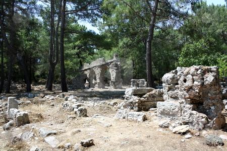 Phaselis stock photo, Ruins of ancient Greek city Phaselis, near Antalya, Turkey by Mile Atanasov