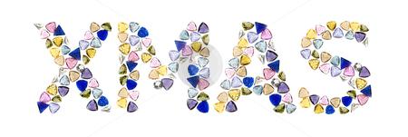 """Gemstones words, """"XMAS"""". Isolated on white background. stock photo, Gemstones words, """"XMAS"""". Isolated on white background. by pashabo"""