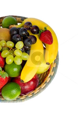 Fruit basket stock photo, fruit basket by ambrophoto