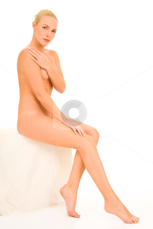 Nude woman sitting stock photo, nude woman sitting by ambrophoto