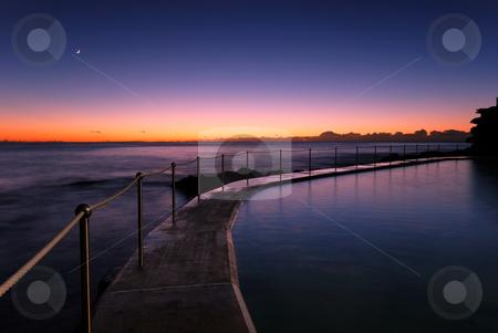 Dawn at Bronte - Sydney Beach stock photo, Dawn at a tidal pool in Bronte, a famour beach in eastern Sydney, Australia by mroz