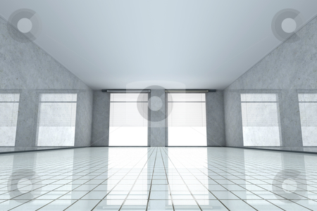 Empty room stock photo, 3D rendered Illustration.  by Michael Osterrieder