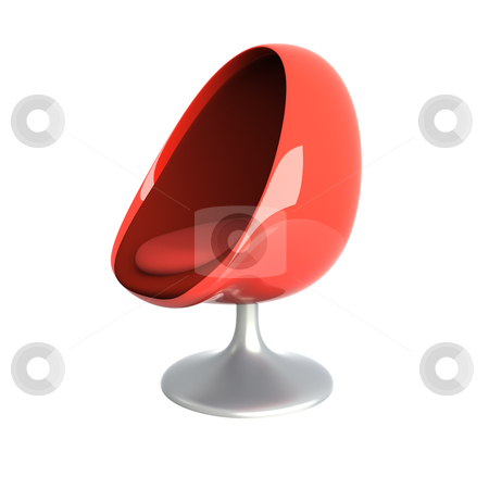 Eggchair stock photo, 3D rendered Illustration.   by Michael Osterrieder