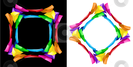 Abstract composition. stock photo, 3d abstract composition. Illustration on black and white background. by dvarg
