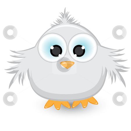 Cartoon gray sparrow stock photo, Cartoon gray sparrow. Illustration on white background by dvarg