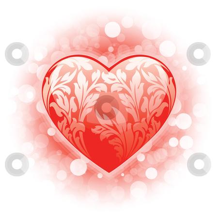 Valentines day Heart background stock photo, Abstract Valentine's day Heart background with sparkle by Vadym Nechyporenko
