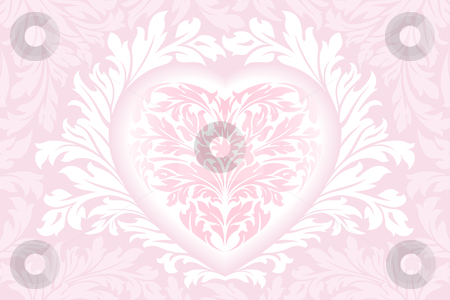 Valentines day Heart stock photo, Abstract Floral Valentine's day Heart in pink color by Vadym Nechyporenko