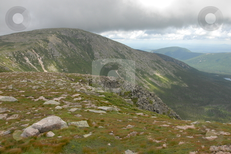 On the mountain stock photo, A view on top of the saddle at Mt. Katahdin by Tim Markley