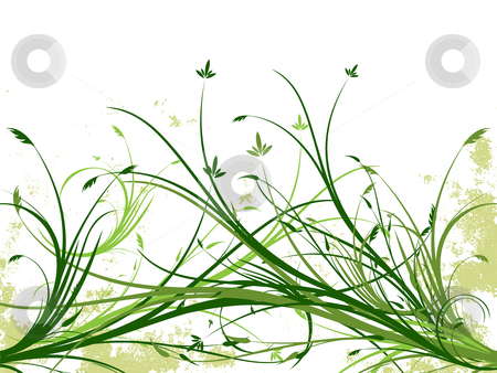 Grunge floral vector background stock photo