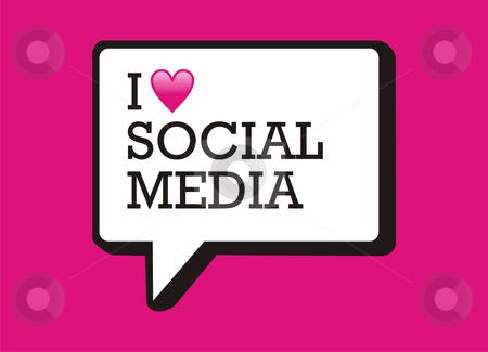 I love social media bubble stock photo, I love social media bubble and heart illustration. by Cienpies Design