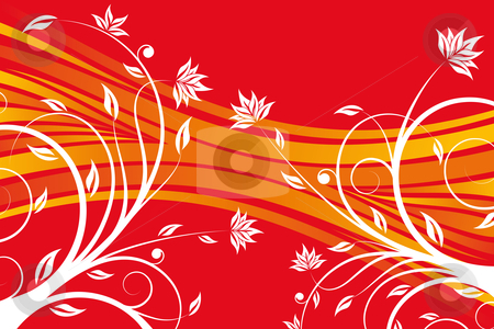 Floral design vector stock photo, Abstract floral design background for creative ideas by Vadym Nechyporenko