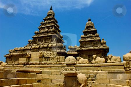 Shore temple—Mahabalipuram,chennai, India  stock photo, Shore temple-Relief sculpture,  by ajithclicks