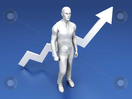 Successful Management stock photo, 3D rendered Illustration.   by Michael Osterrieder