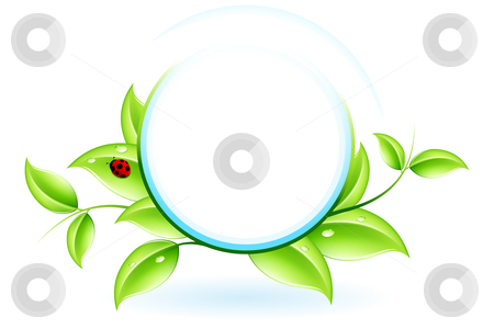 Green ecology stock photo, Green ecology concept with plant and ladybird for your design by Vadym Nechyporenko