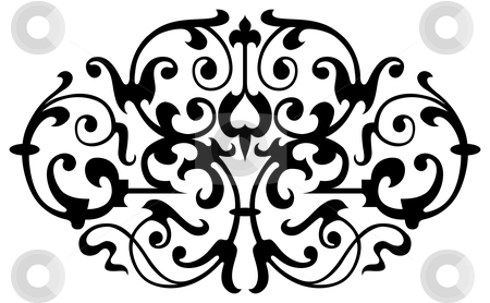 Pattern vector stock photo, Ornamental design, digital artwork by Vadym Nechyporenko