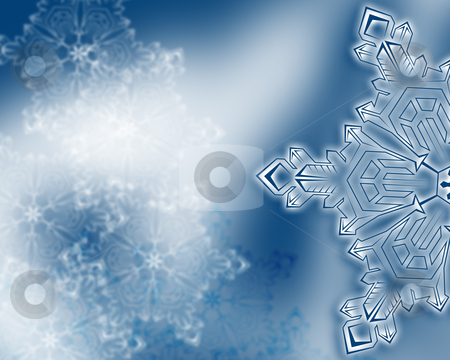 Winter snowflake background stock photo, winter snowflake background, raster background by Vadym Nechyporenko