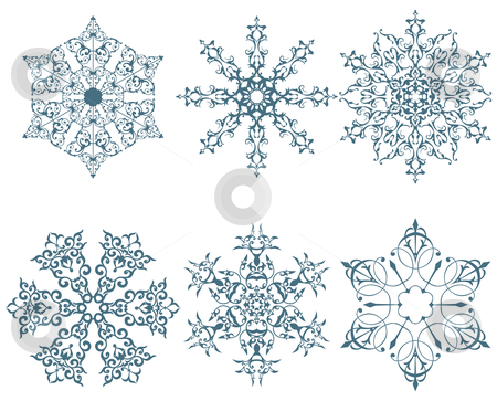 Winter snowflakes stock photo, some designs of winter snowflakes  by Vadym Nechyporenko