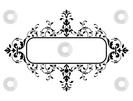 Black frame with floral decoration, vector illustration stock photo, black frame with floral decoration, vector illustration by Vadym Nechyporenko