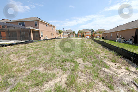 Empty Lot stock photo, An empty lot ready to build on in Florida by Lucy Clark