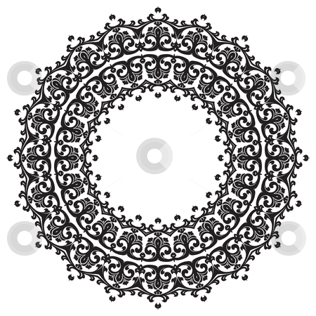 Ancient ornament stock photo, Ancient decorative ornament pattern illustration isolated on white by Vadym Nechyporenko