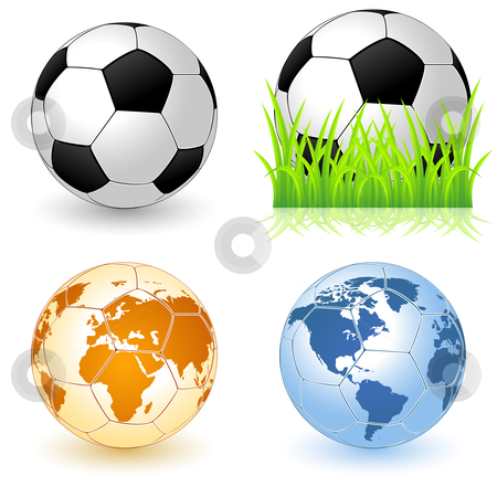 Soccer Ball icon stock photo, Vector illustration of a soccer ball icons for your design by Vadym Nechyporenko