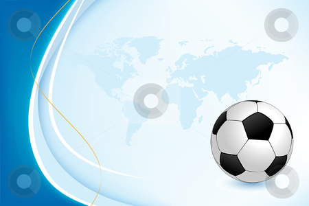 Background with Soccer Ball stock photo, Vector background with a soccer ball for your design by Vadym Nechyporenko