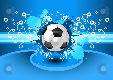 Grunge Soccer background stock photo, Grunge Vector background with a soccer ball for your design by Vadym Nechyporenko