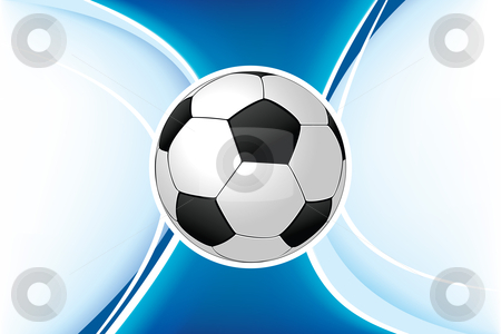 Soccer background stock photo, Vector background with a soccer ball for your design by Vadym Nechyporenko