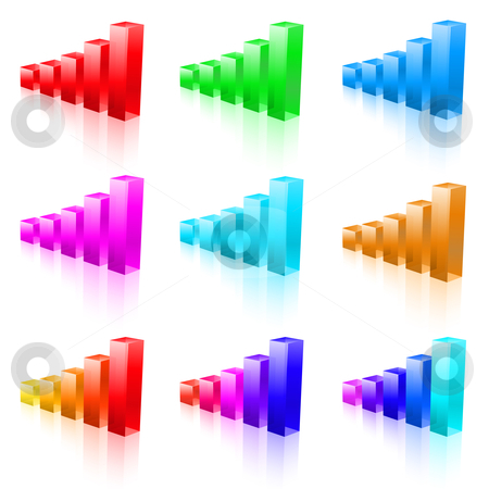 Abstract vector bar graphs stock photo, Abstract vector bar graphs. Illustration for designer on a white background  by dvarg