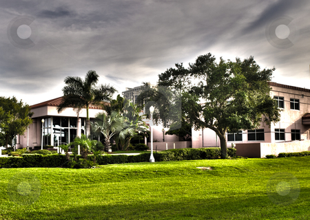 HDR surreal museum stock photo, HDR surreal image of a museum in St Petersburg, Florida by P.J. Lalli