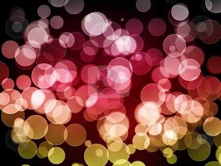 Bokeh background stock photo, Abstract bokeh background with multi color lights. by Henrik Lehnerer