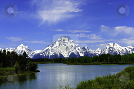Oxbow Bend stock photo, The Snake River at Oxbow Bend in Grand Teton National Park by Don Fink