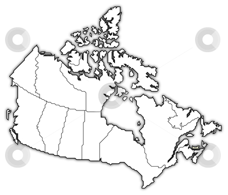 Map of Canada, Prince Edward Island highlighted stock photo, Political map of Canada with the several provinces where Prince Edward Island is highlighted. by Schwabenblitz