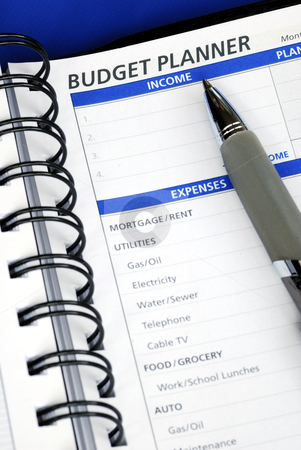 Do the budget planning on the day planner stock photo, Do the budget planning on the day planner by johnkwan