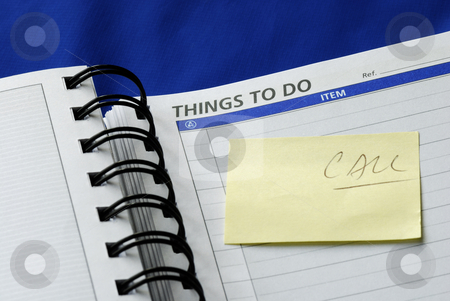 """To Do List"" on the day planner isolated on blue stock photo, ""To Do List"" on the day planner isolated on blue by johnkwan"