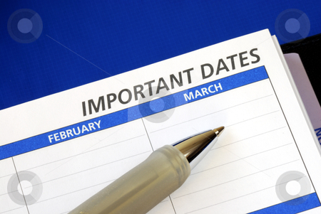 Write down some important dates in the notebook stock photo, Write down some important dates in the notebook by johnkwan
