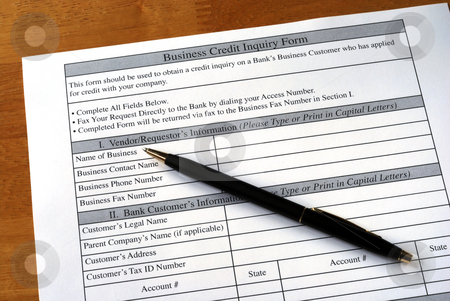 Make the business credit inquiry from the bank stock photo, Make the business credit inquiry from the bank by johnkwan