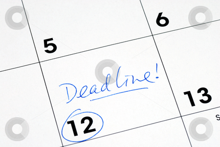 Mark the deadline on the business calendar stock photo, Mark the deadline on the business calendar by johnkwan