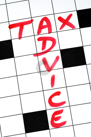 Write the words Tax Advice in the crossword puzzle stock photo, Write the words Tax Advice in the crossword puzzle by johnkwan