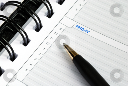 Write some notes on the day planner  stock photo, Write some notes on the day planner  by johnkwan