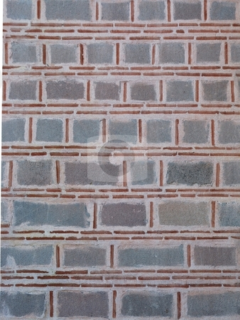 Old Stone & Brick Wall stock photo, Old stone & brick wall which can also be used as a nice background. by selimgoksu