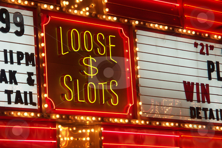 Neon stock photo, Loose slots neon sign in las vegas by Cora Reed